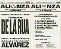 Boleta electoral 1999 - Alianza - De La Rúa-Álvarez.jpg