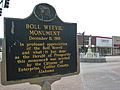 Boll Weevil Monument Alabama Historical Marker.JPG