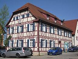 Alte Schule in Filderstadt-Bonlanden, 1770 bis 1773 erbaut. Oberdorfstraße 10