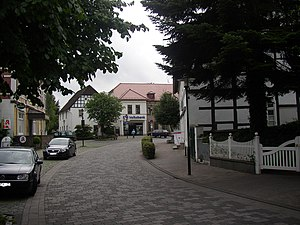 Borgholzhausen - Town centre of Borgholzhausen
