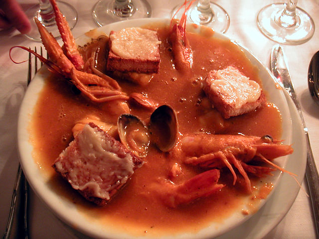 A bouillabaisse is a heterogenous mixture.