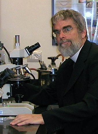 Brother Guy Consolmagno SJ, Vatican astronomer and Carl Sagan Medalist. Br Guy in Lab.jpg