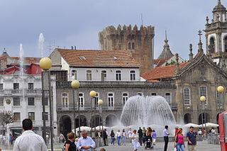 Castle of Braga building in Braga, Braga District, Portugal