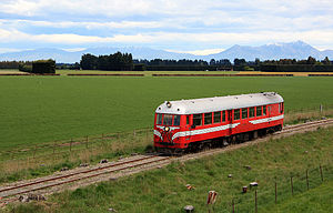Vulcan Foundry - Preserved Vulcan-Frichs railcar on Plains Vintage Railway, Ashburton, New Zealand.