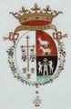 Brasão de armas de D. Francisco António da Veiga Cabral da Câmara, 1.º Visconde de Mirandela - Companhia das Índias, Reinado Qianlong (1736-1795).png
