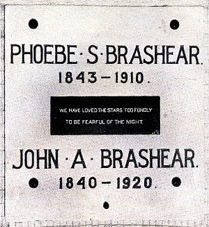 John Brashear - Plaque in the crypt of the Allegheny Observatory