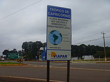 Tropic Of Capricorn On World Map.Tropic Of Capricorn Wikipedia