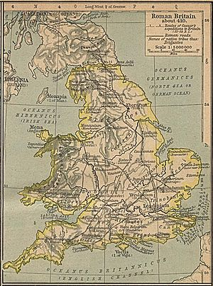 England and Wales - The Roman province of Britannia in 410