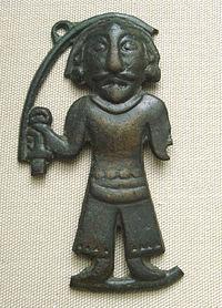 Bronze statuette of a man, Ordos, 3-1st century BCE. British Museum.