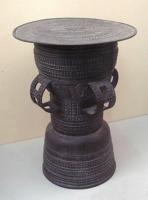 History of Bali - Bronze Age ceremonial drum, Bali.