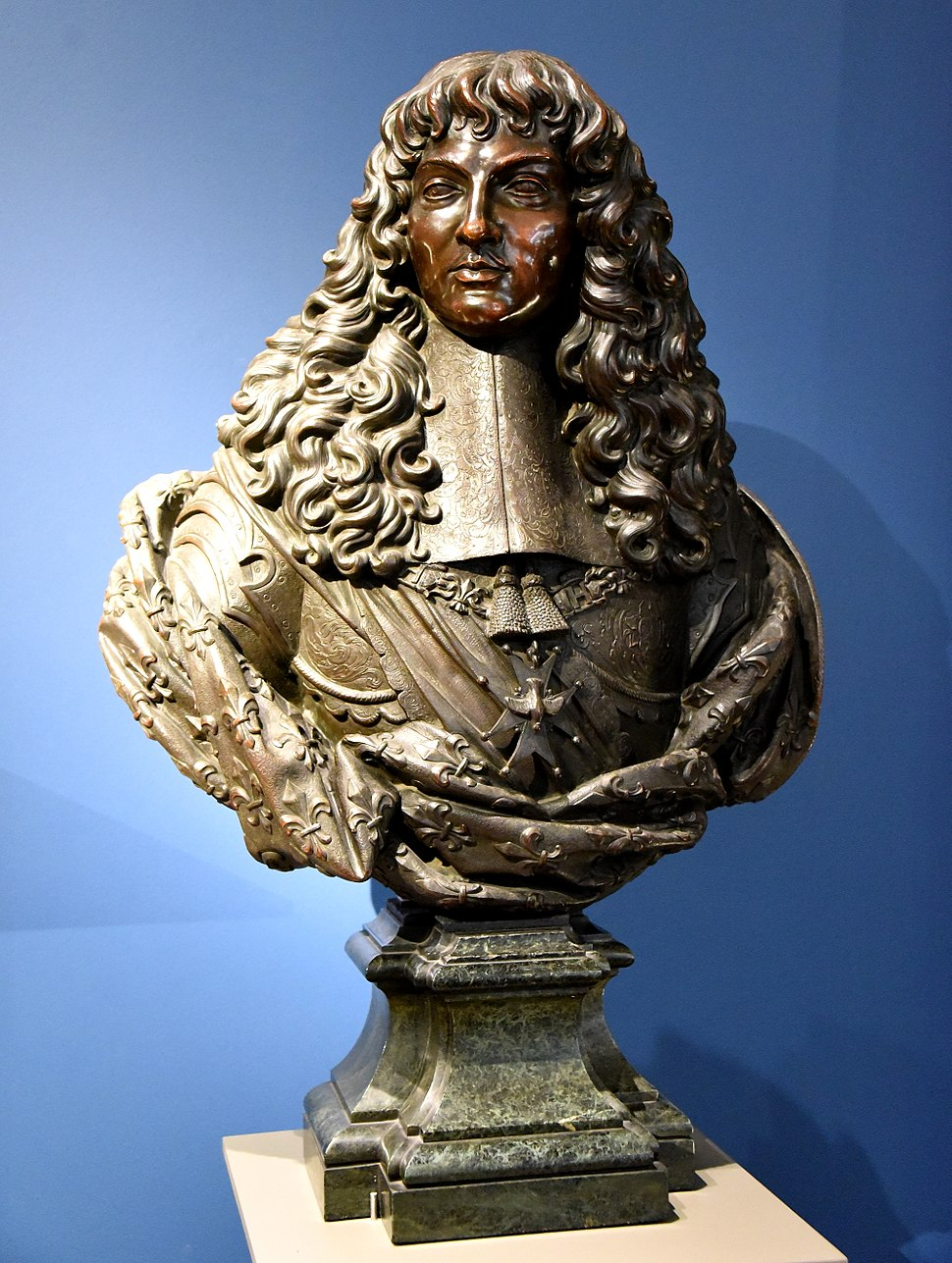 Bronze bust of Louis XIV. Circa 1660 CE, by unknown artist. From Paris, France. The Victoria and Albert Museum, London