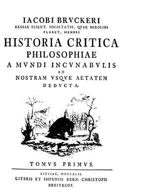 Johann Jakob Brucker - Historia critica philosophiae, 1742