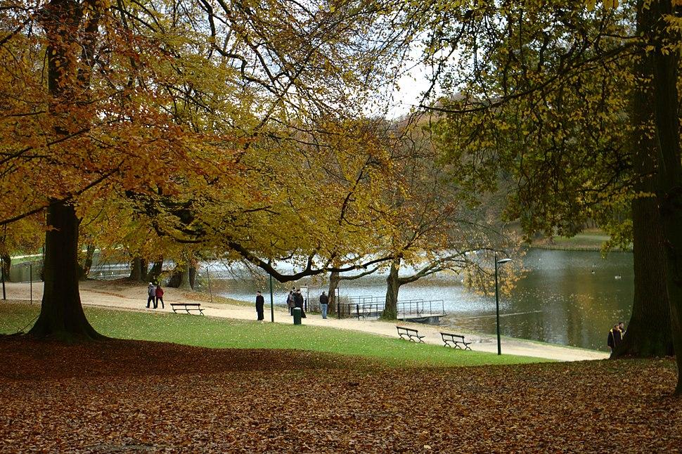 Brusel, Bois de la Cambre, jezero