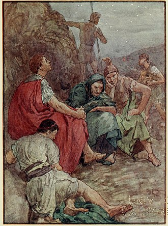 Brutus the Younger - Brutus and his companions after the battle of Philippi
