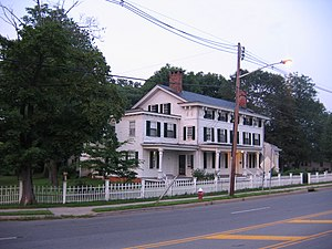 Jamesburg, New Jersey - Historic Buckelew Mansion, overlooks Lake Manalapan