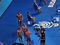 Budapest2017 fina world championships 200butterfly semifinal 2 - after race - Laszlo Cseh won semifinal 2.jpg