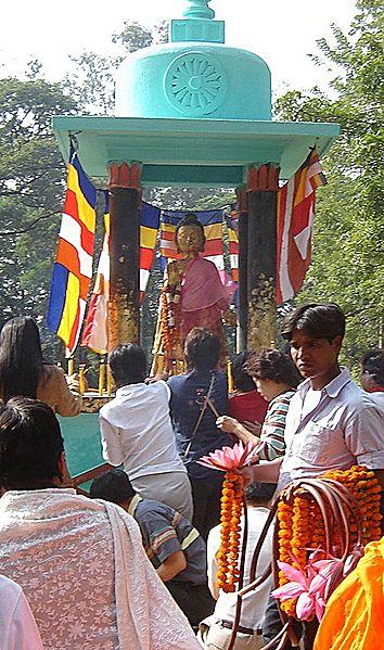 File:Buddha in Venuvana Rajgir, Bihar, India.jpg