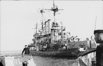 SMS Schleswig-Holstein - Schleswig-Holstein off Denmark in April 1940