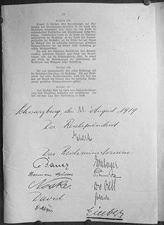 Deutsche Verfassung von 1919