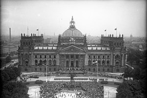 Reichstag building - Reichstag building, constitution celebration, 11 August 1932