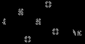 Bunte salt - Image: Bunte salts structure
