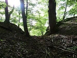 Abschnittsgraben zwischen Vor- und Kernburg