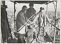 Burgemeester J.Reehorst op een steiger van de Grote Kerk bij de verwijdering van een beeld dat gerestaureerd zal worden. NL-HlmNHA 54013086.JPG