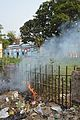 Burning Garbage - Nizamat Fort Campus - Lalbagh - Murshidabad 2017-03-28 6538.JPG