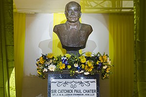 Paul Chater - Bust of Catchick Paul Chater at La Martiniere Boys School, Kolkata