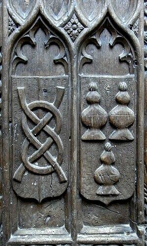 Wake knot - Image: Butler Benchend Monkleigh Church Devon