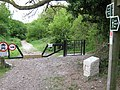 Byway gate on North Downs Way - geograph.org.uk - 1292824.jpg