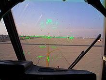 L'HUD del copilota di un C-130J