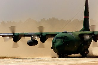 165th Airlift Wing - A 165th AW C-130 during Air Mobility 2000.
