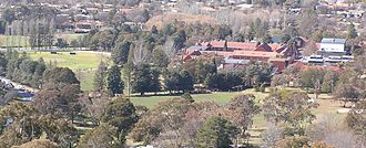 Canberra Grammar School - Grounds and buildings of Canberra Grammar School viewed from Red Hill