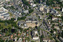 Vue aérienne du centre hospitalier de Chambéry