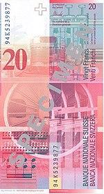 20 Franken Rückseite
