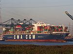 CMA CGM Laperouse (ship, 2010), Deurganckdok, Port of Antwerp, Belgium, pic4.JPG