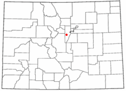 Location within the state of Colorado