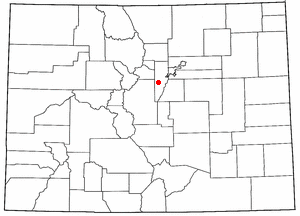 Conifer, Colorado - Image: CO Map doton Conifer