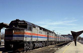 Sacramento Valley Station - The westbound California Zephyr at Sacramento in February 1985