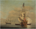 Calm- an English Sixth-rate Ship Firing a Salute .PNG