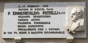 Ermenegildo Pistelli - Image: Camaiore, targa ermenegildo pistelli