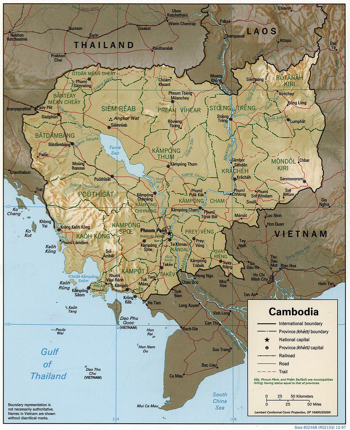 File Cambodia 1997 Cia Map Jpg Wikimedia Commons