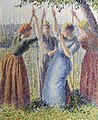 Camille Pissarro - Paysannes plantant des rames - museums Sheffield.jpg
