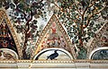 Camillo mantovano, volta della sala a fogliami di palazzo grimani, 1560-65 ca., lunette con grottesche e rebus allusivi al processo per eresia di giovanni grimani 16.jpg