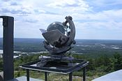 Campbell-Stokes recorder, Blue Hill Meteorological Observatory, Milton MA.jpg