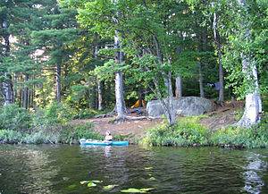 Canoe camping - Canoe camping in the Adirondacks.