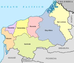 Río Verde Canton - Image: Cantones de Esmeraldas