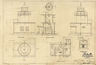 Cape Capricorn Light - Plans for the second lighthouse, 1937
