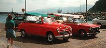Taxi storici italiani a Capri